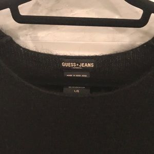 Guess Sweater Black Soft Texture Size Large